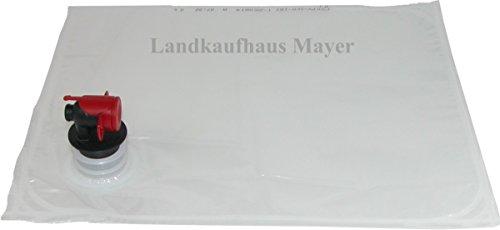 Landkaufhaus Mayer 25 Stück Bag in Box Beutel 3 Liter, Saftschläuche, Saftbeutel (25 x 3 Liter)
