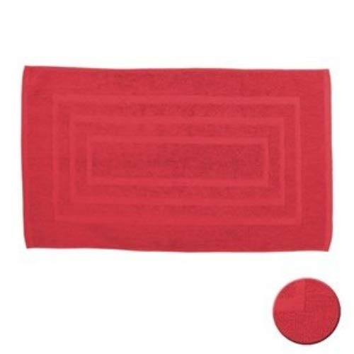 Today Tapis de Bain, Coton, Rouge, 85x50 cm