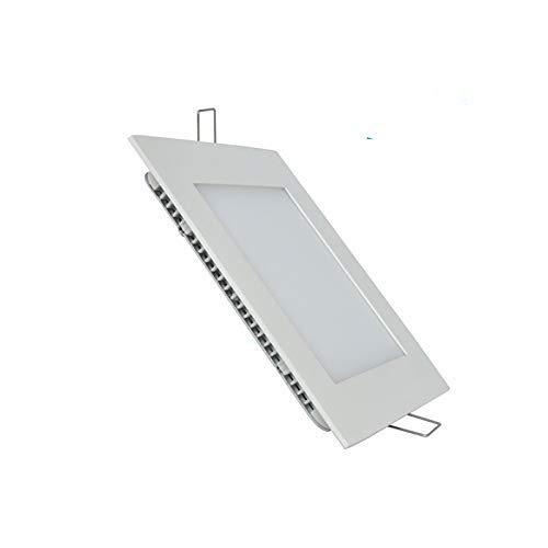 2x Panel LED Cuadrado 18W Downlight LED, 1600 lumenes, Driver incluido. (Blanco frio 6500K) (Pack x2)