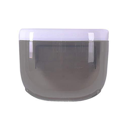 zyl Soporte para Papel higiénico a Prueba de Agua Estante de Almacenamiento para teléfono móvil Caja de pañuelos montada en la Pared Soporte para Papel en Rollo Producto de baño (2 Piezas) Negr
