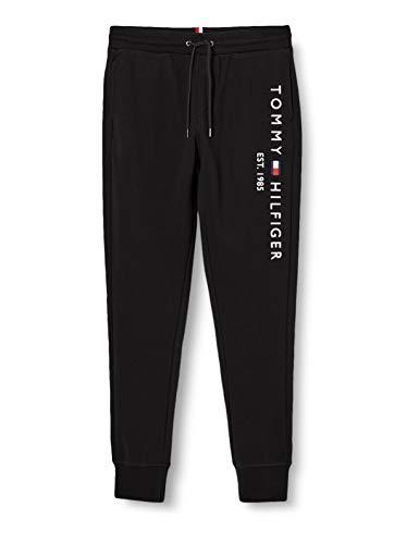 Tommy Hilfiger Herren Basic Branded Sweatpants Hose, Black, L