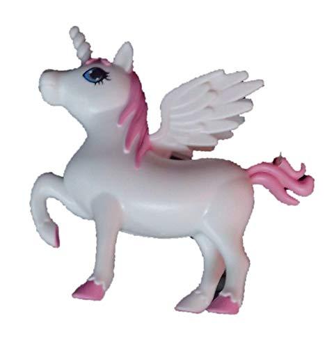 Frames magníficos unicornio blanco y rosa en llavero, multifunción, con lámpara y hendidura.