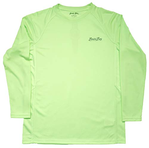 Bimini Bay OUTFITTERS Cabo Crew III Long Sleeve Shirt with BloodGuard (Paradise Green, Large)