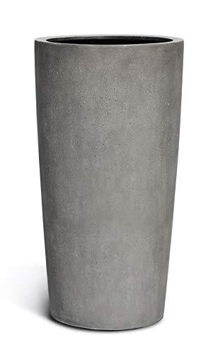 VAPLANTO® Pflanzkübel HIGH Conus 90 Beton Grau Rund XL * 47 x 47 x 90 cm * 10 Jahre Garantie