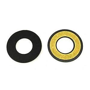 Cristal de Repuesto para Lente, Lente de Repuesto para cámara Trasera + Adhesivo de Doble Cara Compatible con LG Q6 M700