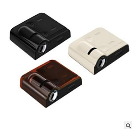 GUOSHUFANG Autotür Logo Licht,Wireless Willkommenslicht 4 Stück Universal Wireless Autotür Paste Projektor Licht Autotür-Led-Projektor Led Atmosphärenlicht für Focus Alle Automodelle 4