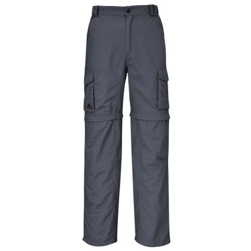 Cox Swain Trekking Hose Range Men Quick Dry - Anti Moskito - UV Schutz, Colour: Grey, Size: L