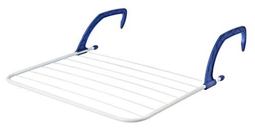 KADAX Balkonwäschetrockner, Heizkörpertrockner, Wand-Wäscheständer aus Stahl, Wäschetrockner 69x49cm, Wäscheständer, kompakter Hängetrockner, Trockenlänge 5m