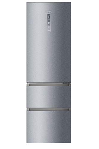 Haier A3FE835CGJE Independiente 330L A+++ Plata nevera y congelador - Frigorífico (328 L, SN-T, 12 kg/24h, A+++, Compartimiento de zona fresca, Plata)