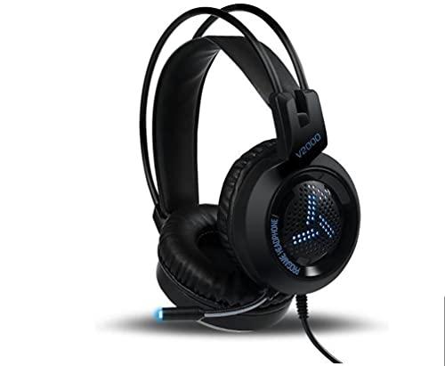 WYH Música PC Gamer Gaming Headset 7.1 de Sonido Envolvente estéreo bajo del Juego de Auriculares con micrófono LED de Colores for el teléfono Xbox One PS4 Resistente al Sudor