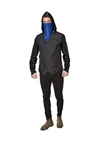 YT Electronic Shop - Disfraz de Robin Hood para hombre, incluye chaqueta con capucha y bufanda