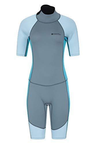Mountain Warehouse Traje de Neopreno para Mujer Shorty - Cuerpo: 2.5mm, De baño, de Surf, con Cremallera Easy Glide, Tirador extendido, Costuras Planas - para Buceo Carbón 44-46