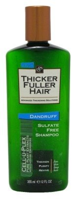 Today's only Thicker Fuller Hair Shampoo Dandruff 12oz Pack 3 Sulfate No Attention brand