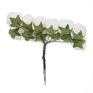 lzl 144pcs foam teddy bear rose decoration pe foam rose head fake flower handmade wedding decoration srapbooking gift box diy wreath (color : teal) silk flower arrangements
