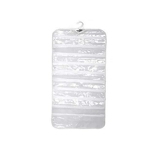 NaisiCore Colgando joyería del Bolso del Organizador Blanca con 80 Bolsillo Pendiente del Collar de la Pulsera de Doble Cara Pared del Armario Bolsa Casa y jardín