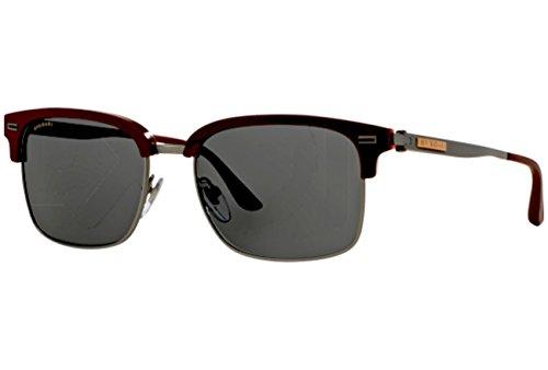 Bulgari 0BV7026 535987 54 Gafas de sol, Rojo (Sand Red On Horn/Mt Gunmetal/Grey), Hombre