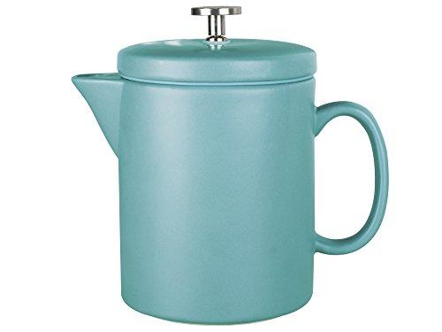 La Cafetière Barcelona contemporáneo cerámica Prensa Francesa cafetera eléctrica, 900ml (1,5pintas/6Tazas), diseño Retro, Color Azul