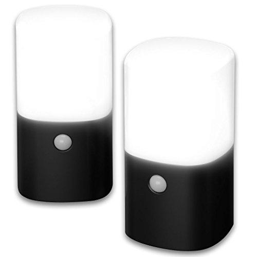 アイリスオーヤマ センサーライト ガーデン LED 乾電池式 角型 2個セット ZSL-MN1K-BKS2