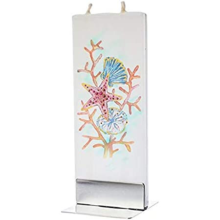 Decorative Double Wick with Metal Base Dripless Butterfly Unique Gift Idea and Home D/écor Accent Smokeless Flatyz Hand Painted Flat Candle| Unscented