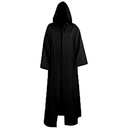 WINBST Männer Hooded Knight Halloween-Umhang für Jedi Robe Kostüm Robe mit Kapuze Herren Cosplay Party Outfit