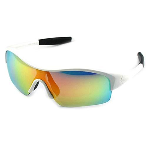 Los Niños Polarizados Gafas Deportes Gafas De Sol Gafas De Bicicleta Marco Flexible para Niños Y Niñas, De 3 A 12 Años De Edad.Filtro De Sol Seguro UV400. (Color : White)