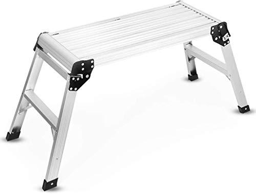 WYKDL Rango de Trabajo escalera con plataforma plegable del hogar taburete de paso ancho pedal robusto Escalera del Mango antideslizante plegable caballo heces Andamios Ingeniería Escalera de lavado d