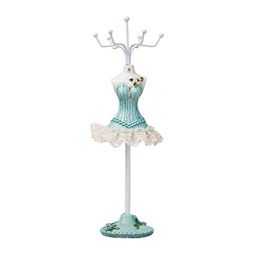 TREESTAR Jewellery Stand/Display/Holder-Earring Necklace Bracelets Mannequin Jewelry Holders Organiser Rack Tower Hanging with Hooks 9.84 In High