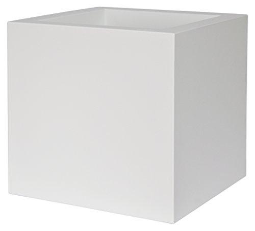 EURO3PLAST 2514 C2 Vaso per Fiori e Piante, Bianco, 40x40x40 cm