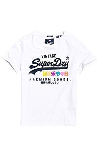 Superdry Premium Goods Puff Entry Tee Pull sans Manche, Blanc (Optic 01c), M (Taille Fabricant:12) Femme
