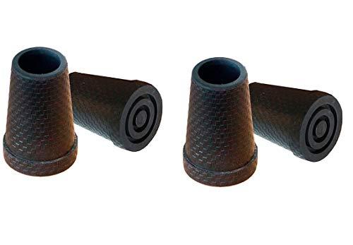 KMINA - Gehstock gummipuffer 16 mm, 15 mm (4 stück), Gehstock gummifuß, Gummi für gehstock, Gehstock gummi, Gummipuffer gehstock