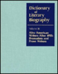 Dictionary of Literary Biography: Afro-American Writers After 1955