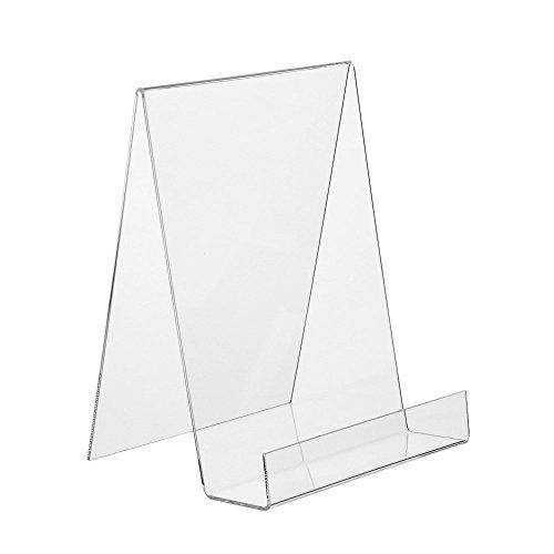 DIN A5 Buchstütze / Buchständer / Warenstütze / Warenträger aus Acryl