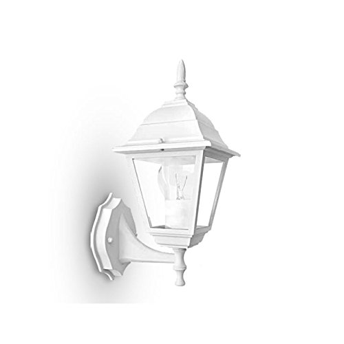 Fan Europe Rome Lanterne Applique pour extérieur e27, 40 W, Blanc, 36.5 x 19.5