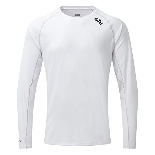 Gill Race T-shirt met lange mouw T-shirt Top Wit - Lichtgewicht. Ademend - UV Zon Protection en SPF Properties