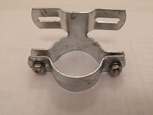 Abrazadera de tubo para señales de tráfico (60 mm, distancia entre orificios de 70 mm)