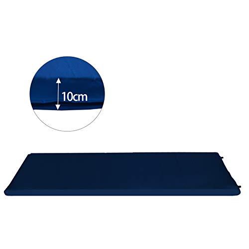 Hengda Selbstaufblasende Isomatte Ultraleichter Camping Isomatte Wasserdicht Selbstaufblasende Luftmatratze Camping Isomatte 200 * 66 * 10CM Blau
