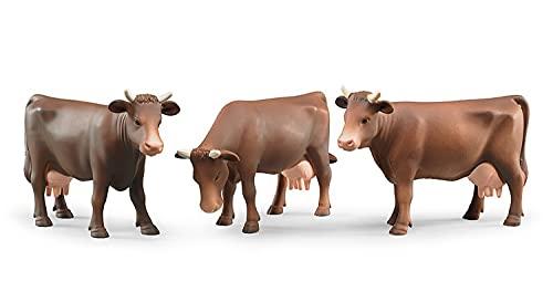 Bruder 02308 - Kuh in der Farbe Braun, in 3 verschiedene Designs sortiert