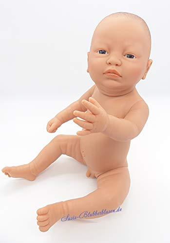 Newborn Jungen Babypuppe, Afrika Modell, Softvinyl Körper, 52 cm