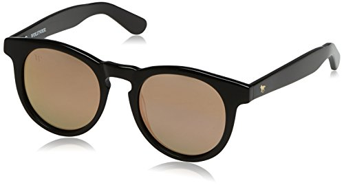 Wolfnoir Hathi Ace Shadowy Gafas de sol, Negro/Rose Gold, 45 Unisex