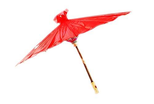 Chinesisch / Japanisch Blumenmuster Sonnenschirm Geisha Schirm - 80cm durchmesser - Rot, 80cm