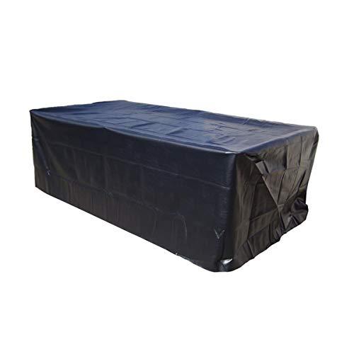 dDanke Billardtisch Abdeckplane Wasserdicht Staubschutz mit Gummizug für 7/8/9 ft Snooker Billardtisch Schwarz (260X135X82CM)