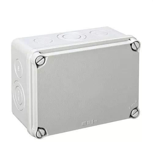 IDE EX161 IP65-IP67 Caja Estanca de Derivación con Tapa Opaca y Entradas Pretroqueladas, Gris, 116mm x 162mm x 76mm