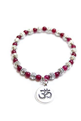 Pulsera con el símbolo del OM, Pulsera de protección, Brazalete regalo yoga,...