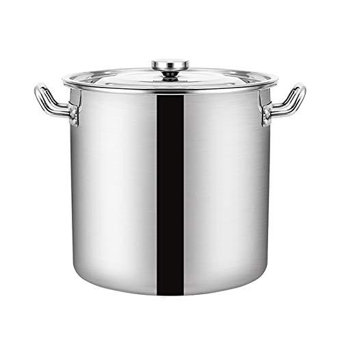 Guoguocy Ollas Rectas Big Bott, 304 Cocinero de Acero Inoxidable Catering Pot,...