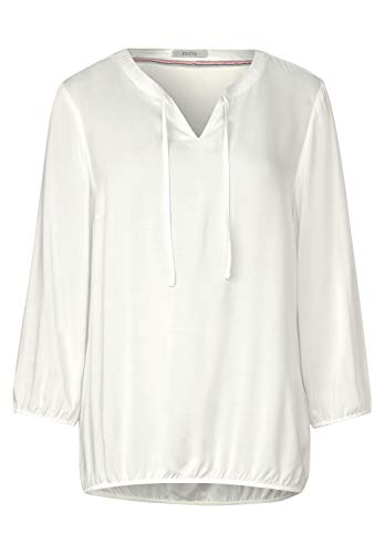 Cecil Damen 341889 Bluse, Pure Off White, Medium