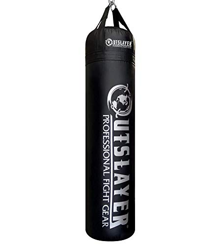 Outslayer Custom Punching Bag - Choose Color and Size (Muay Thai 6ft 130 lbs, Filled)