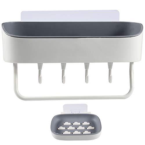 Duschregal mit Saugnapf ohne Bohren Abnehmbare,Wasserdichtes und ölbeständiges Wandregal zur Aufbewahrung von Duschgel, Shampoo usw. Ideal für Bad und Küche