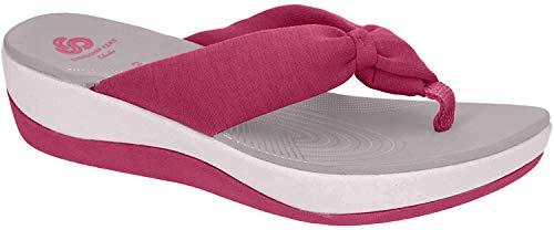 Clarks Damen Arla Glison Slingback Sandalen, Pink (Rose Hip), 39.5 EU
