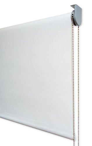 Estor Enrollable Visillo Premium Metal (Desde 40 hasta 300cm de Ancho) Transparente (máxima claridad y Visibilidad Exterior). Color Crudo. Medida 70cm x 220cm para Ventanas y Puertas