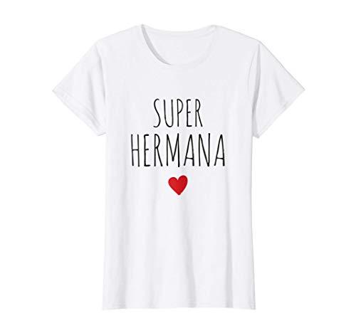 Mujer Super Hermana Mejor Hermana Del Mundo Día de la Madre Mamá Camiseta